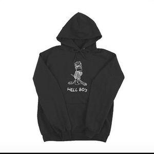 Superrradical black hellboy hoodie